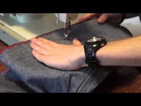 How to Turn Baggy Coogi Pants into Skinny Jeans! Tutorial, Do It Yourself!