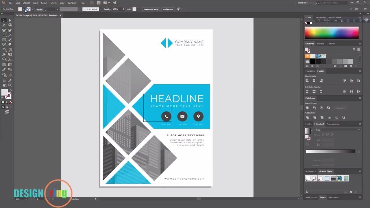 Adobe Illustrator Flyer design tutorial Poster Design ...