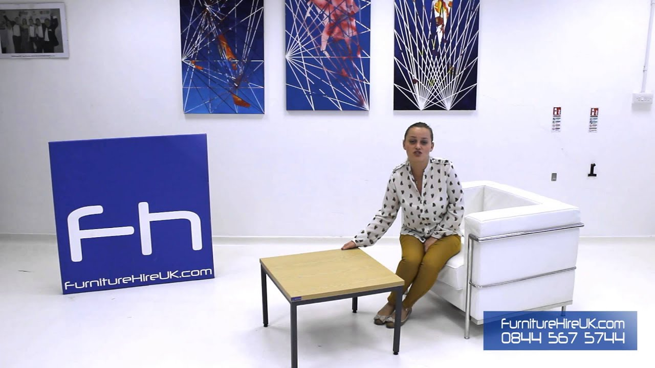 Rectangular Coffee Table Demo - Furniture Hire UK
