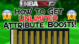 NBA 2K17 How to Get UNLIMITED Attribute Boosts!! | PeterMc