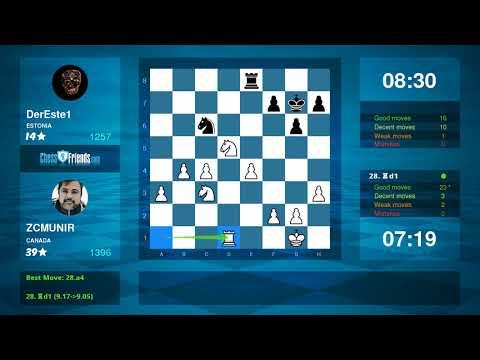 Chess Game Analysis: ZCMUNIR - DerEste1 : 1-0 (By ChessFriends.com)