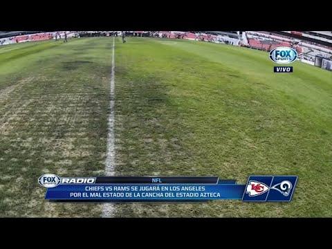 NFL en México ¡Cancelado! Por el césped del Estadio Azteca