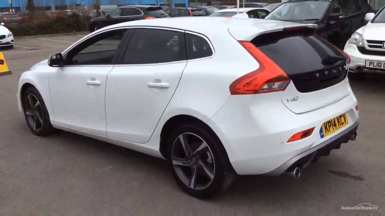volvo v40 d3 r design nav white 2014 youtube. Black Bedroom Furniture Sets. Home Design Ideas