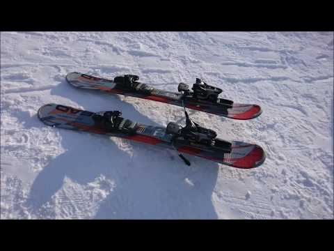 Snow Blade skiing at Hammarbybacken in Stockholm 2018