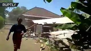 Earthquake strikes Lombok island in Indonesia, panic ensues