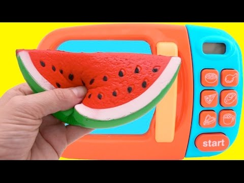 Learn Fruit Names with Squishy Toys & Cutting Fruit Playset & Nursery Rhymes for Children