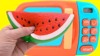 Learn Fruit Names with Squishy Toys & Cutting Fruit Playset & Nursery Rhymes for Children thumbnail