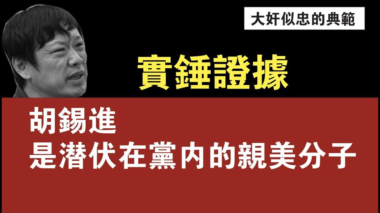 实锤证据,胡锡进是潜伏在党内的亲美分子。2021.05.08NO761#胡锡进#沈逸