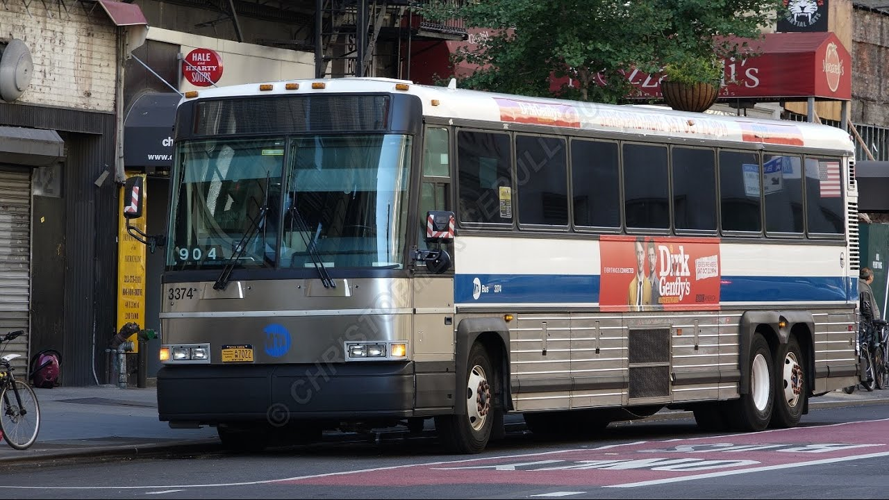 Mta Mci D4500 Bus Action At 23rd And Park