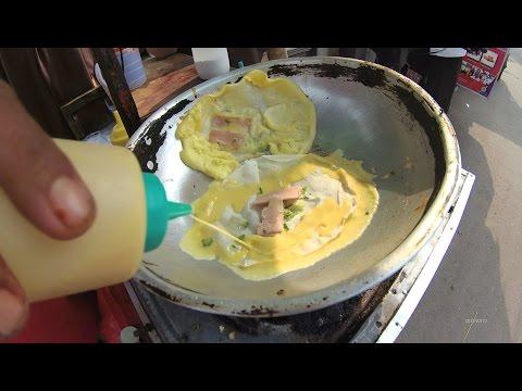 Jakarta Street Food 1289 Part.1 MotorCycle Egg Martabak Telor Sosis yg jualan pake Motor 5985