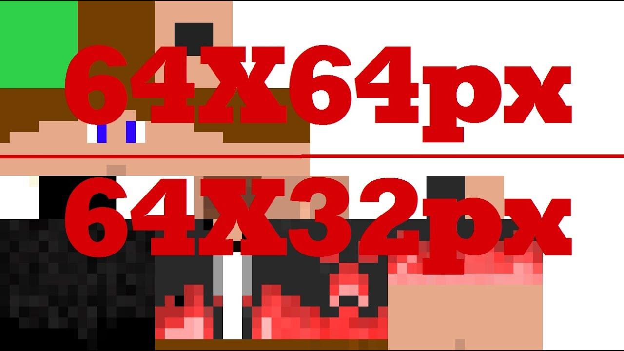 Tuto Comment Convertir Son Skin Minecraft En 64 Pixels Sur 32 Pixels