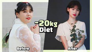 Eng) -20kg를 뺀 나의 다이어트 방법 +살쪘을 …