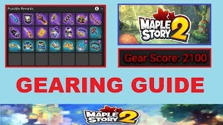 ~Gearing Up & Gear Score~ Guide for Maplestory 2 (Info on Gear & Gear Score for Maplestory 2)