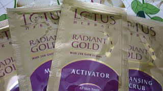 Lotus Herbals Gold Facial Kit - How to use Lotus herbal facial kit