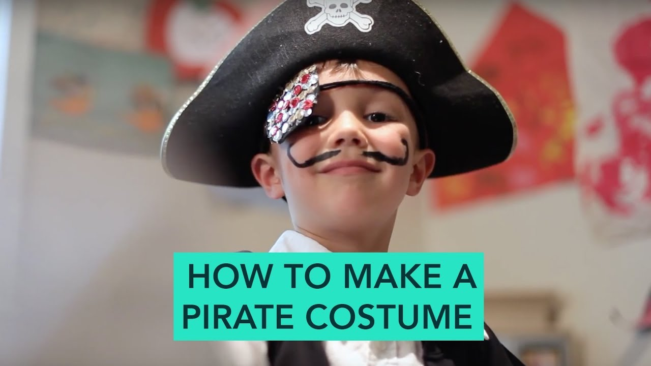 How to Make a Pirate Costume - Easy DIY Halloween | Care.com  sc 1 st  YouTube : pirate costume from home  - Germanpascual.Com