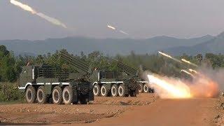 Cambodia Military Drill shooting BM 21 & RM 70 grad missile,កម្ពុជាសាកល្បងបាញ់កាំជ្រួយ BM21 & RM 70