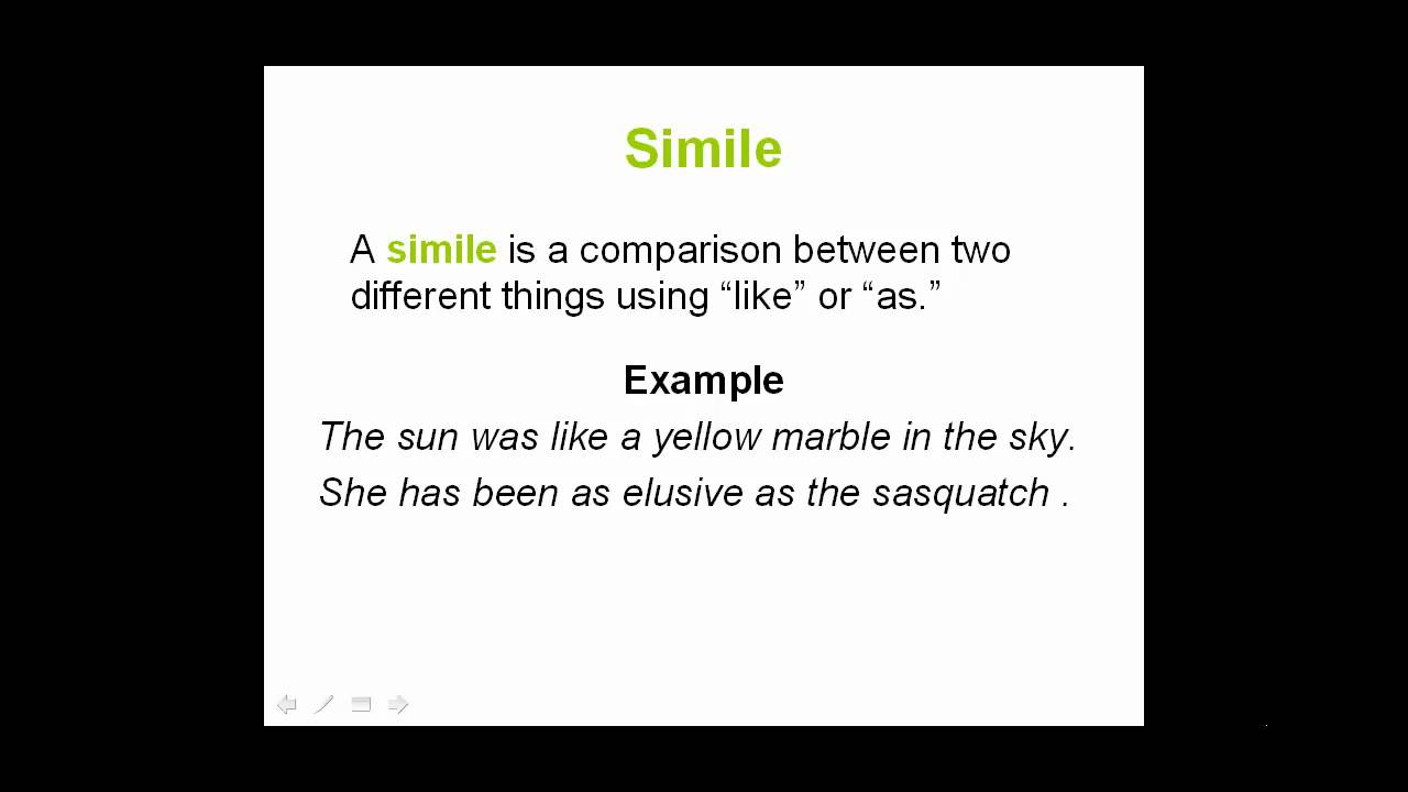 What Is A Simile Youtube