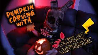 Pumpkin Carving with Skyler Radtastic!!