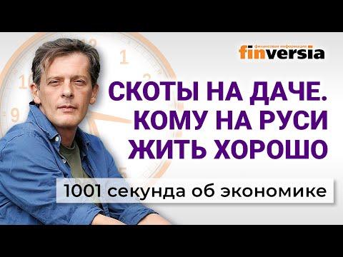 Скоты на даче. Кому на Руси жить хорошо. Индексация пенсий в России. Экономика за 1001 секунду