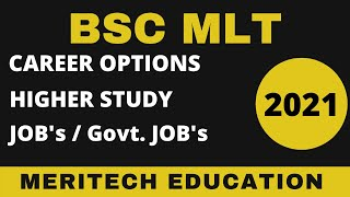 Career Options after BSC MLT ll Govt Jobs after BSC ll After 12 Career in PCB