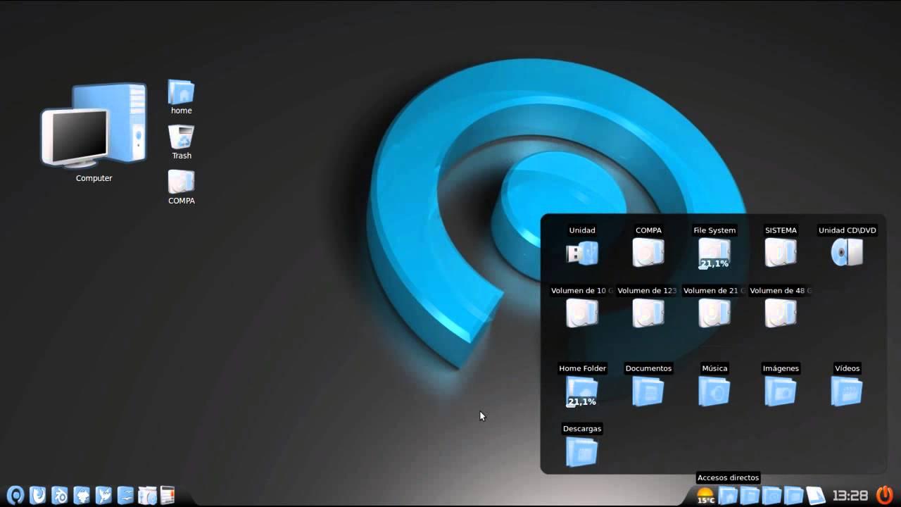linux mint 14 cinnamon + Cairo dock + vamox icons