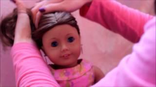 American Girl Fancy Bun Doll Hairstyles for Curly Hair