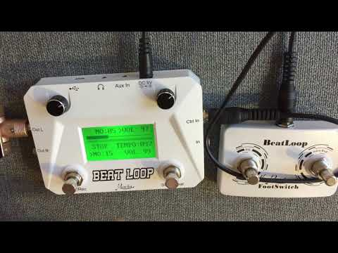 Rowin Beat Loop Looper Pedal & Drum...