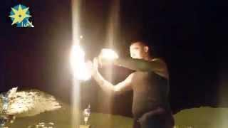 بالفيديو عرض استعراضى خطير للعجلة النارية بشرم الشيخ
