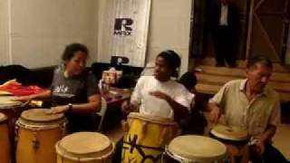 Haiti Music-YANVALOU- traditional Haitian rhythm- AFOUTAYI - Jeff Pierre  & Friends jamming
