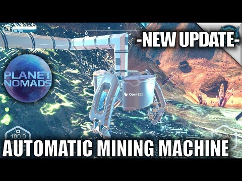 Planet Nomads | Automatic Mining Machine | Let's Play Planet Nomads Gameplay | S02E07
