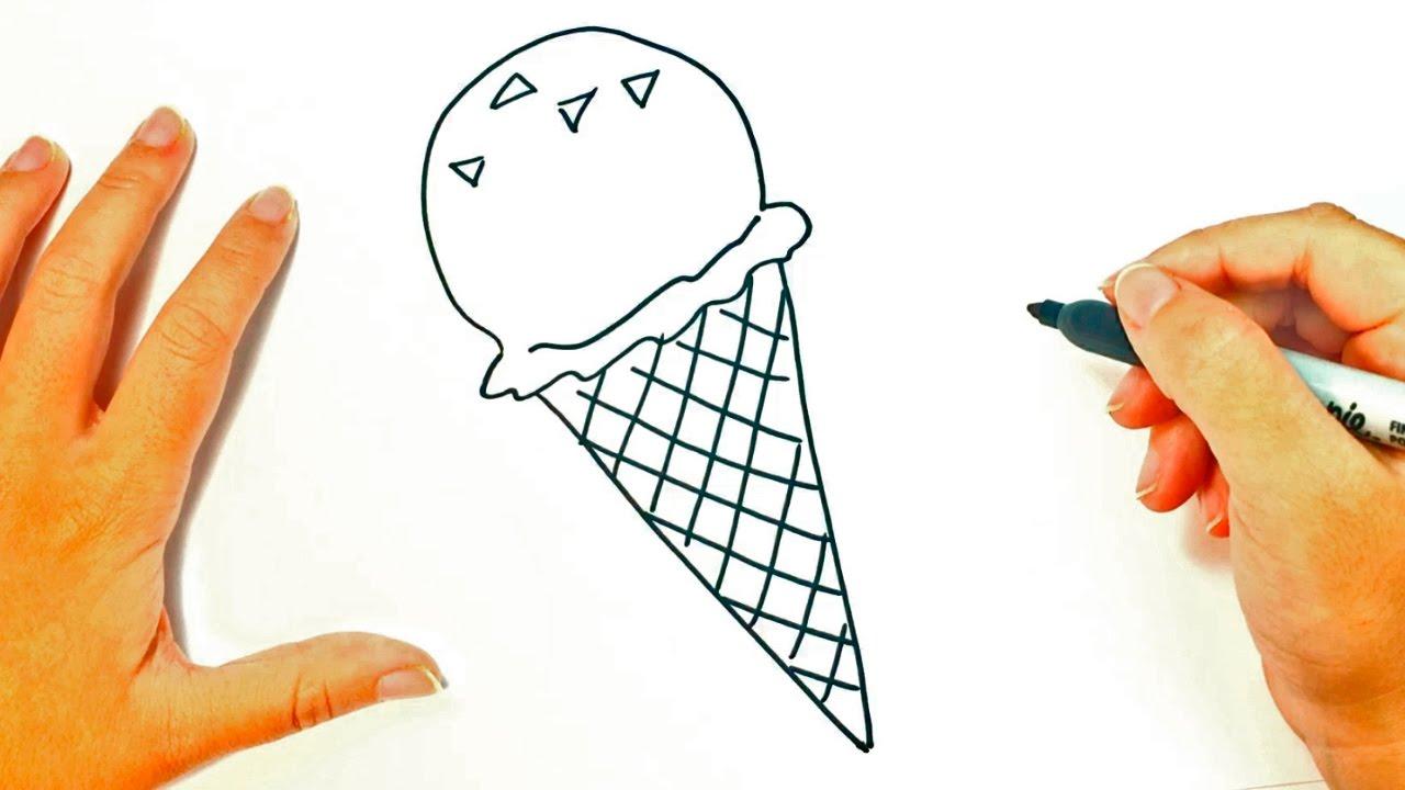 C mo dibujar un helado para ni os dibujo de helado paso for Comedor facil de dibujar