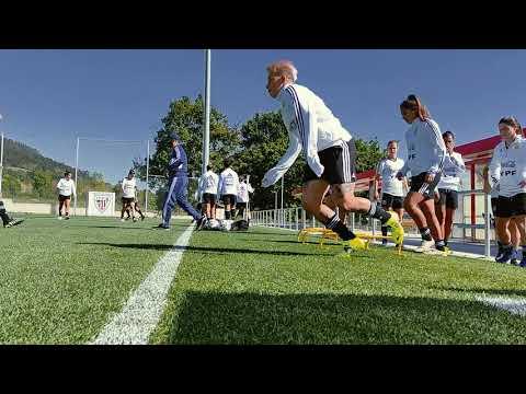 #SelecciónFemenina Primer entrenamiento en Bilbao