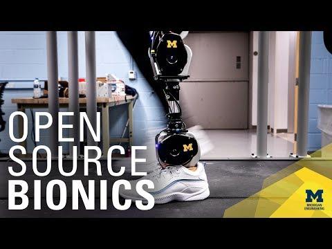 Open-source bionic leg aims to rapidly advance prosthetics