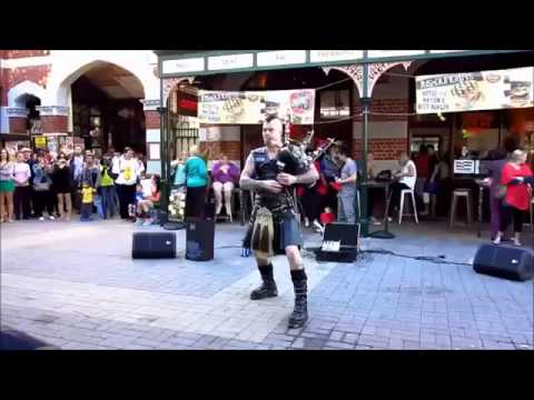 Coolest Bagpipe Player On Earth! How To Play The Bagpipes Like a Boss)