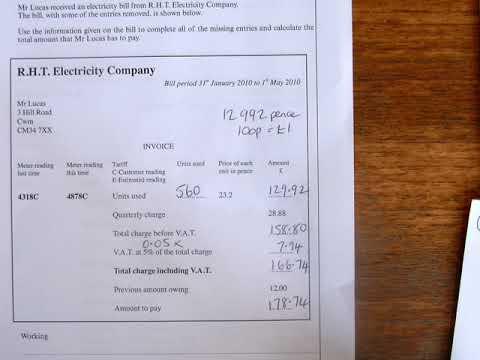 4. Electricity & Gas Bills