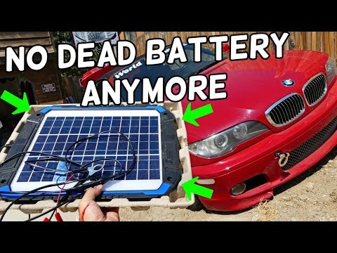 SUNER POWER 12V Solar Car Battery Charger & Maintainer 12 watt Product Review