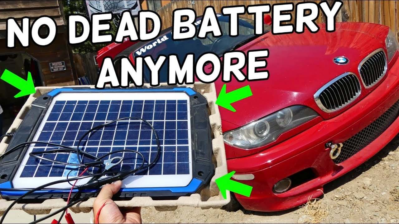 Suner 12v Solar Car Battery Charger Maintainer 12 Watt Product Review