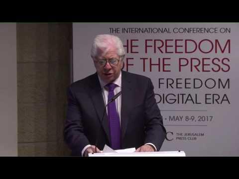 Carl Bernstein speaks at the Jeursalem Press Club, May 8th 2017