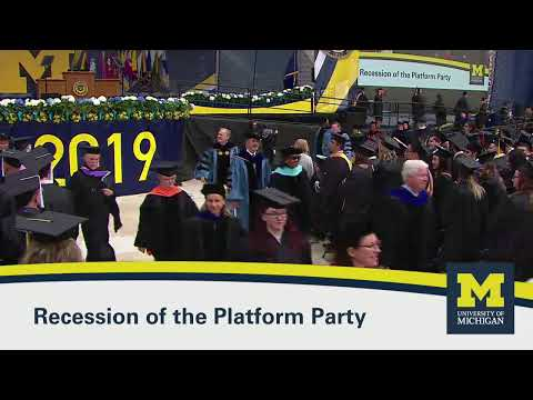 Spring Commencement Ceremony - University of Michigan