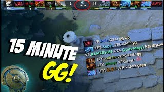 15 Min GG!! - The International 2017 VP vs LFY | Dota 2