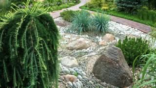 видео Сухой ручей в ландшафтном дизайне для сада