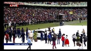 Senzo Meyiwa's body arrives at Moses Mabhida stadium in Durban