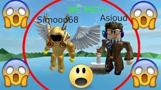 I MET SIMOON68 ON OCEANY TYPE OF GAME!!! - Roblox