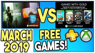 Ps+ Vs Xbox Games With Gold Free Games March 2019 Ps+ March 2019 / Xbox Gwg March 2019