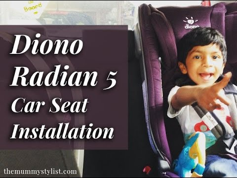 Diono Radian 5 Car Seat Group 0-2 Unboxing, Installation + Review 2016