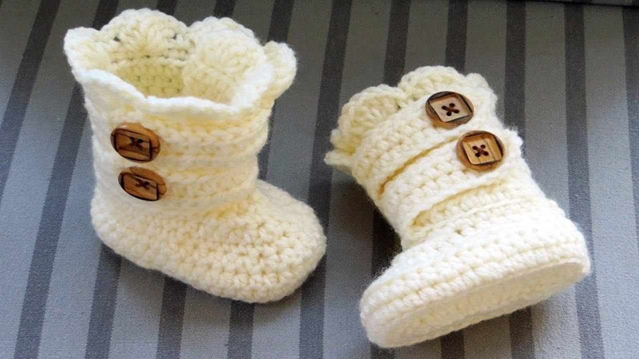 Crochet Baby Booties 6-12 Months idea - YouTube b06cc7d0022f