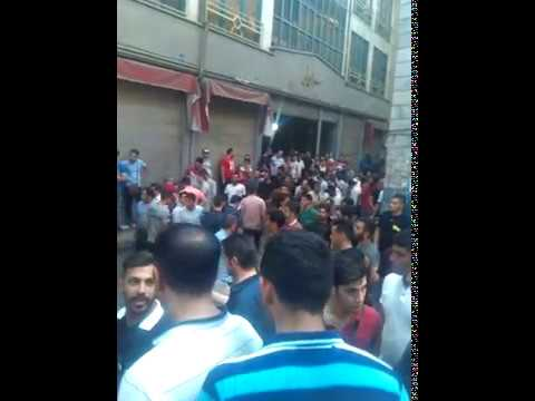 TEHRAN, Iran, June 26, Strike and protest gathering in front of Tehran's great Bazaar national court