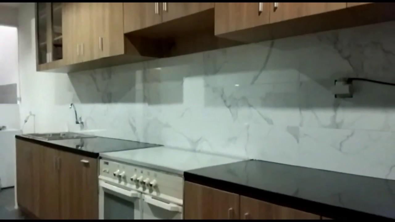 Jasa Pembuatan Kitchen set dan Pemasangan Top table Granit - YouTube