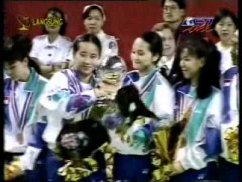 Upacara Penutupan Uber Cup di Hongkong @ RCTI 25 Mei 1996