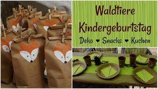 WALDTIERE KINDERGEBURTSTAG DIYs | Deko, Snacks und Kuchen